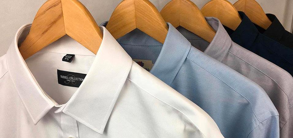 Camisas bordadas con manga corta o larga en diferentes colores y materiales