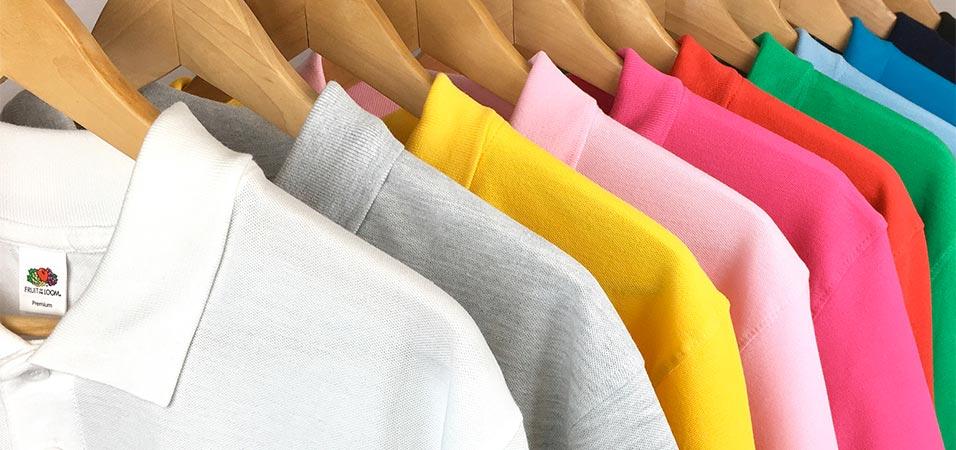 Polos bordados con manga corta o larga en diferentes colores, grosores y materiales