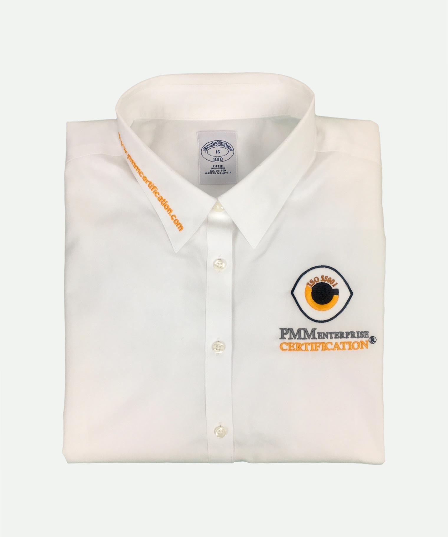Camisa 3 bordados blanca