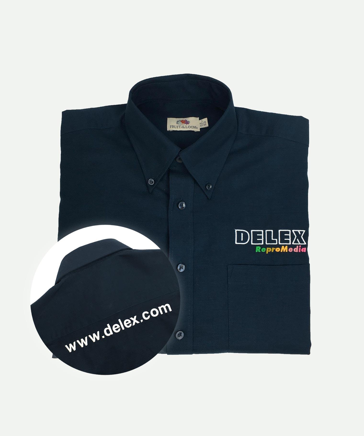 Camisa 2 bordados marino