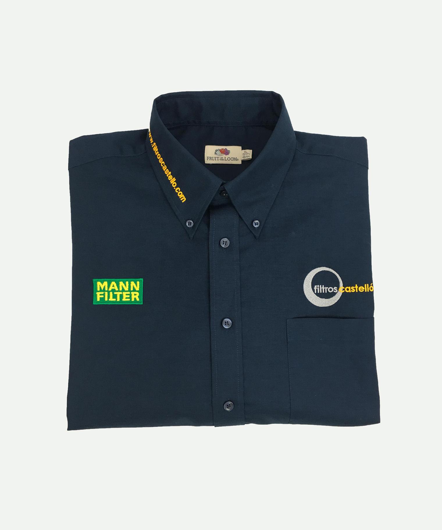Camisa 3 bordados marino