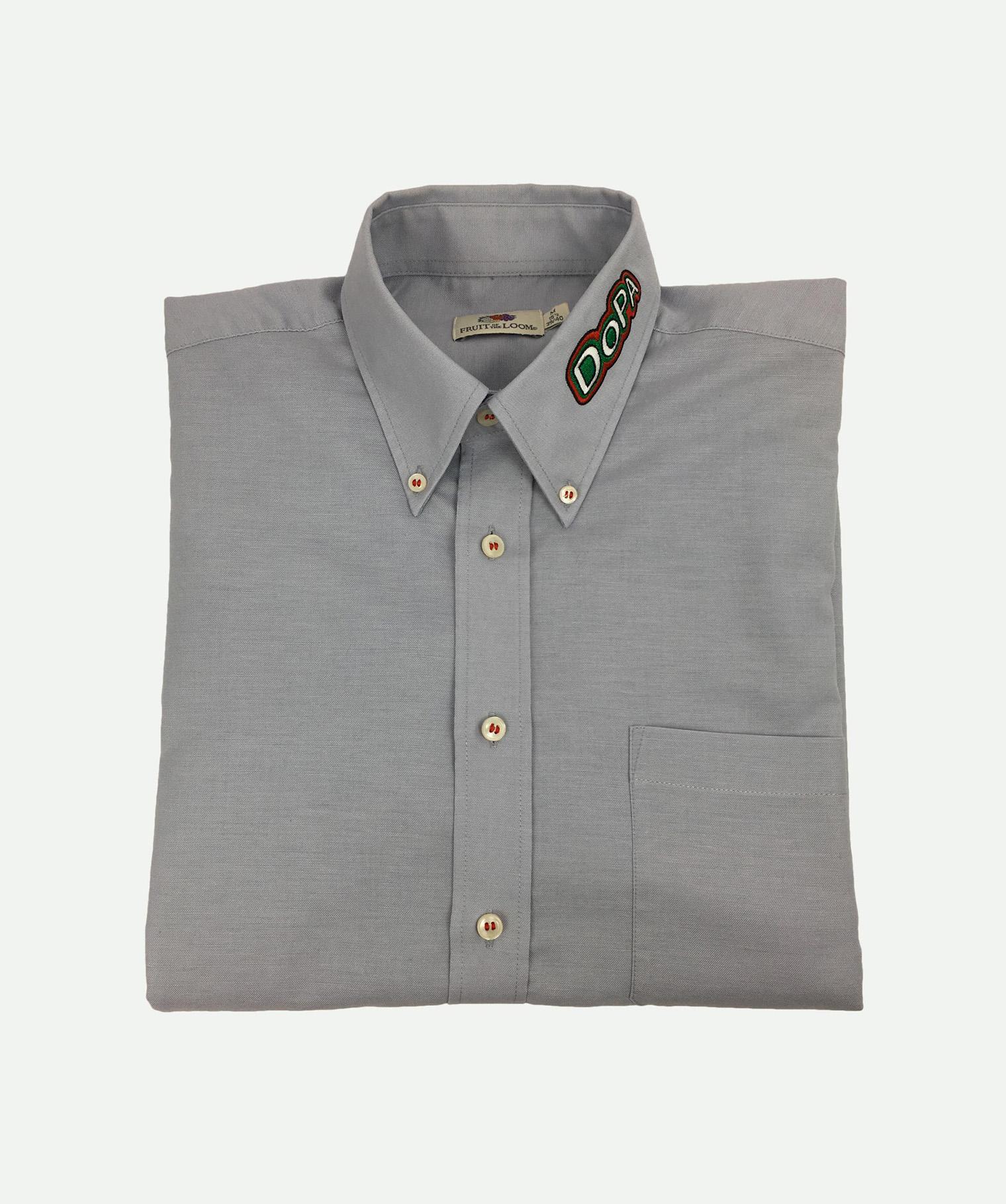 Camisa bordada gris