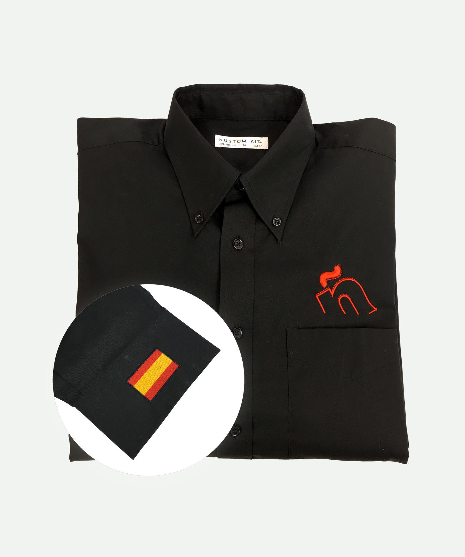 Camisa 2 bordados negra