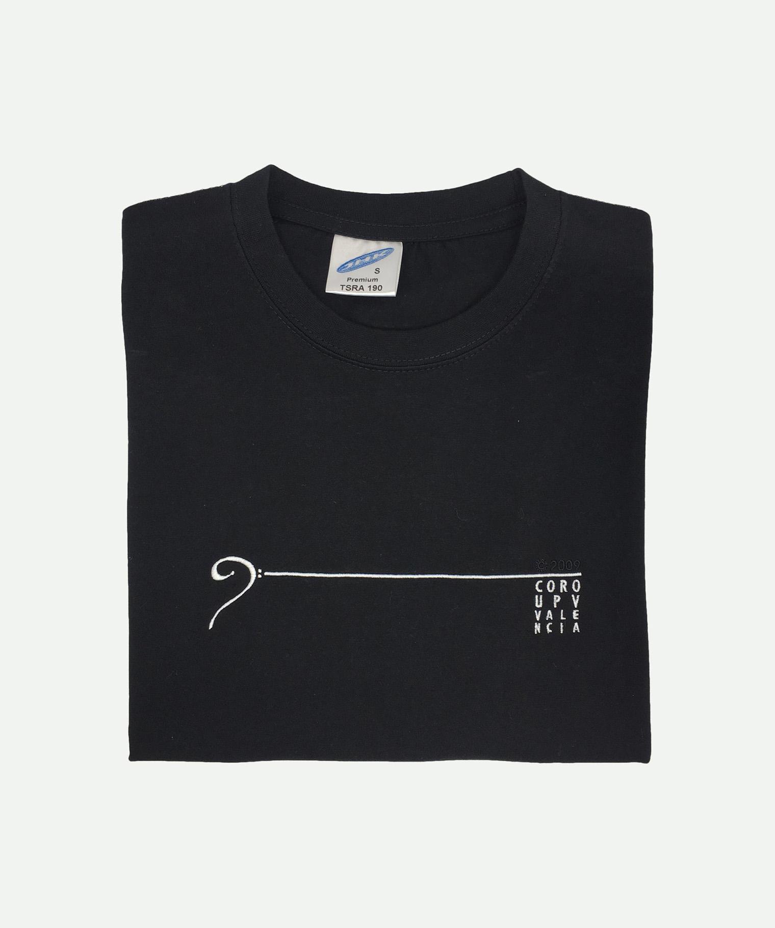 Camiseta bordada negra