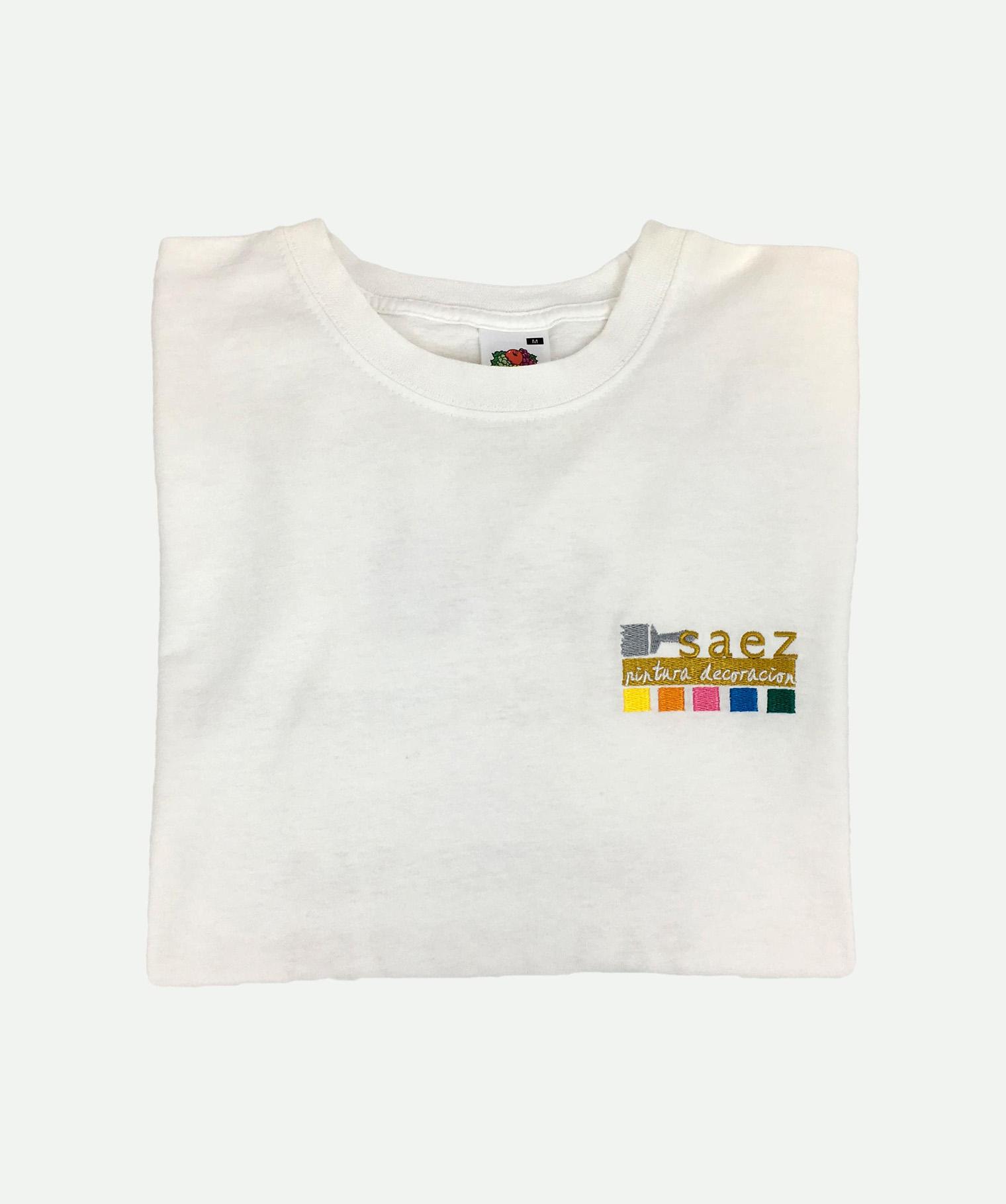 Camiseta bordada blanca