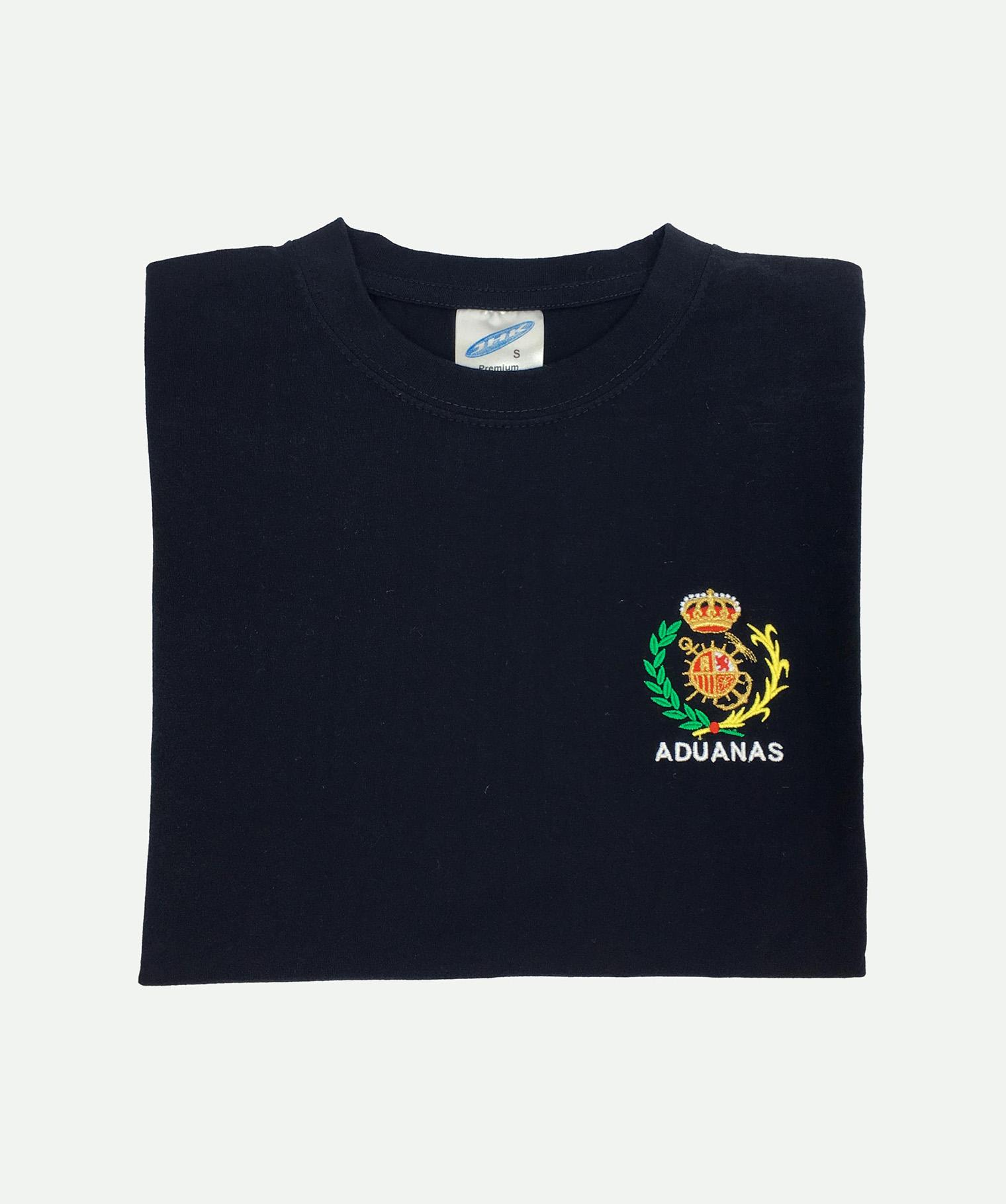 Camiseta bordada marino