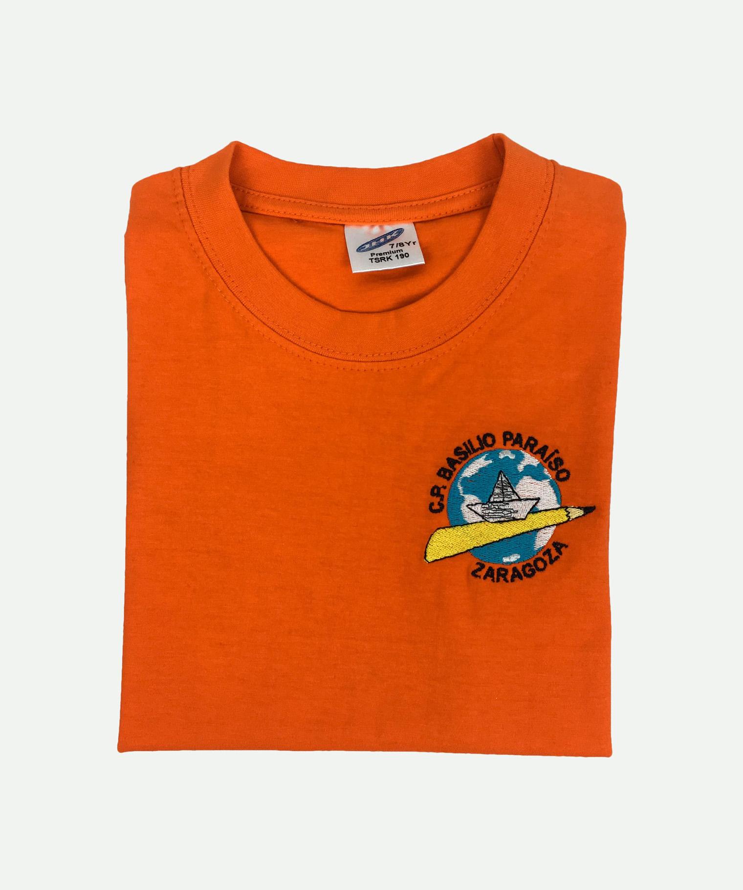 Camiseta bordada de niño naranja
