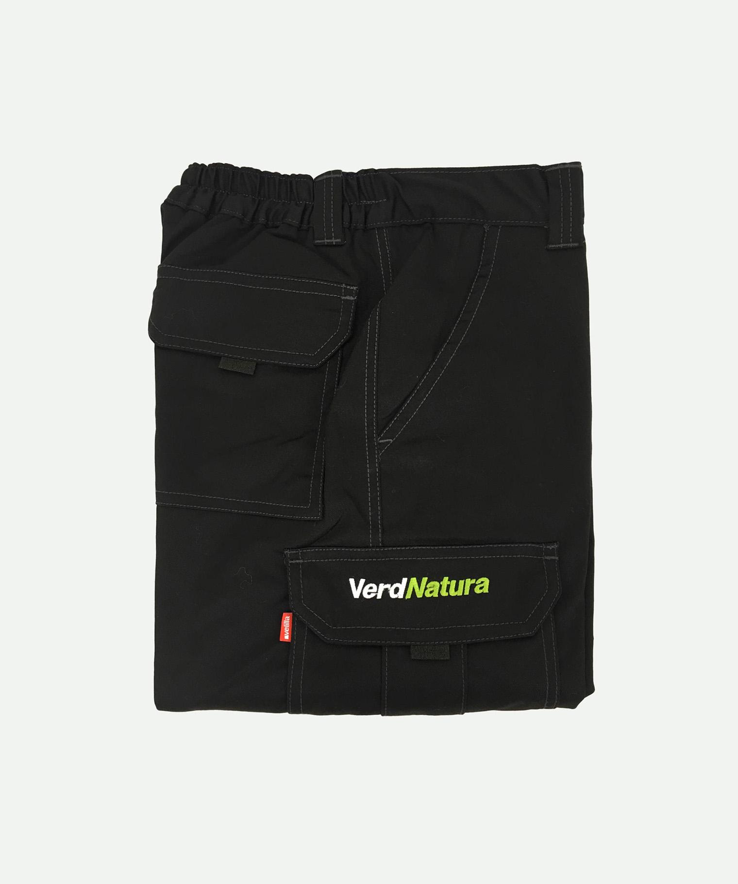 Pantalón bordado negro